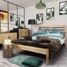 Łóżko Grenada drewno z metalem