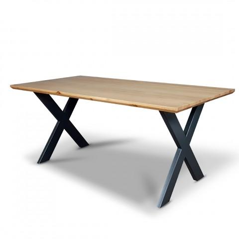 Stół Lars drewno z metalem