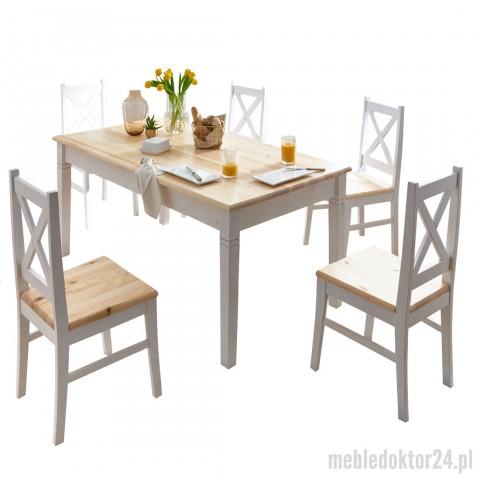 Stół Lida drewniany z krzesłami
