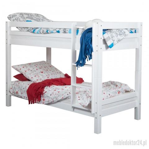 Łóżko Sandra Piętrowe Białe 90x200